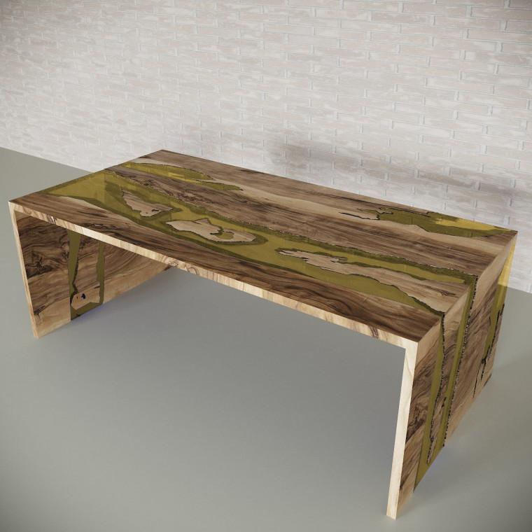 Обеденный стол река из слэбов граба Farsaw C09