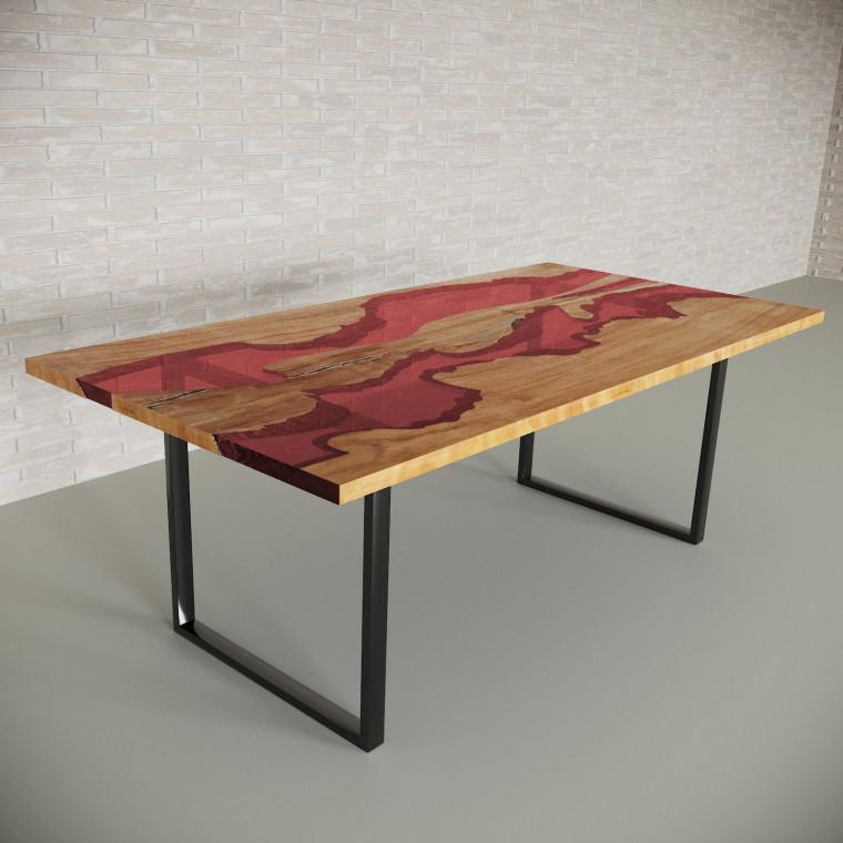 Обеденный стол река из слэбов клена Giveney C11
