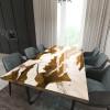 Обеденный стол река из слэбов карагача Villors C09