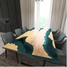 Обеденный стол река из слэбов клена Neila C05