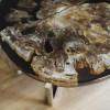 Журнальный стол Mirrey black из окаменелого мадагаскарского дерева (150 млн лет)