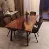Обеденный стол река Allustro из слэбов карагача