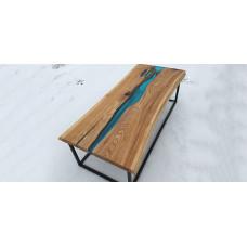 Журнальный стол река из слэбов Anglomera