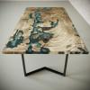Обеденный стол река из слэбов дуба Omerroon C05