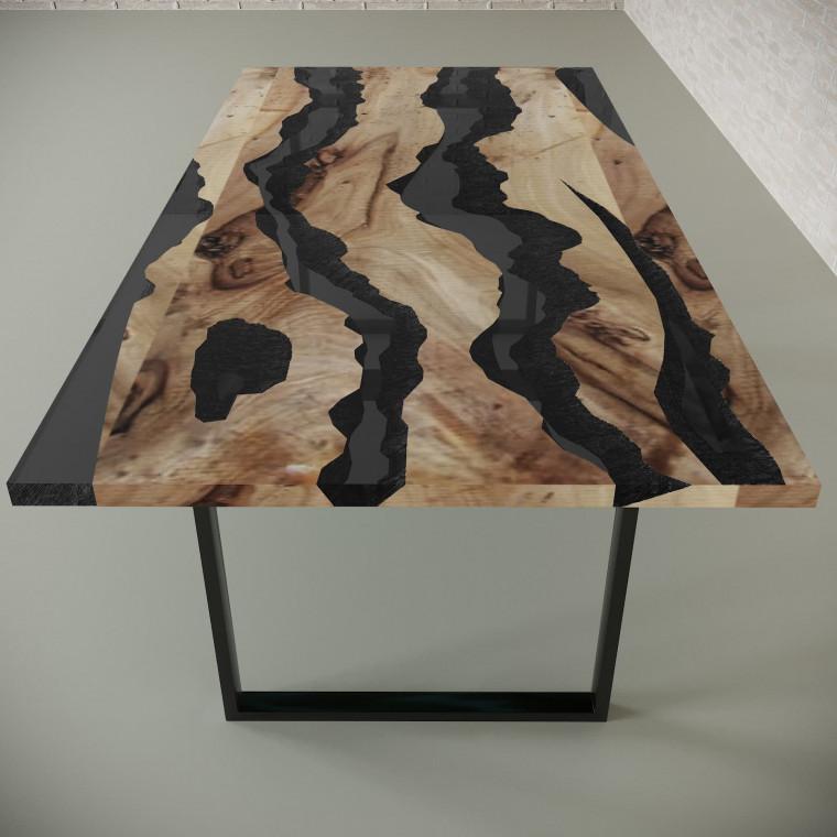 Обеденный стол река из слэбов карагача Alliano C10