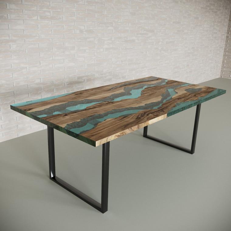 Обеденный стол река из слэбов граба Alliano C05