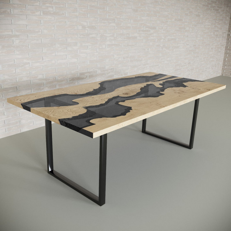 Обеденный стол река из слэбов дуба Giveney C10