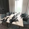 Обеденный стол река из слэбов карагача Villors C10
