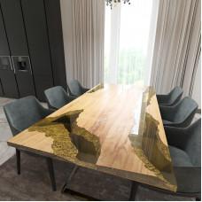 Обеденный стол река из слэбов клена Neila C09