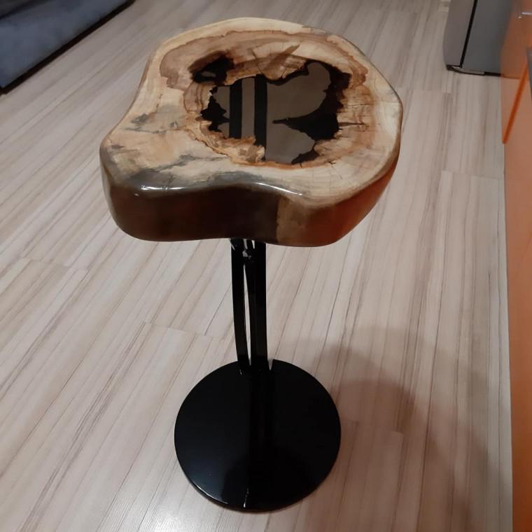Журнальный стол река Sogne из поперечного слэба каштана