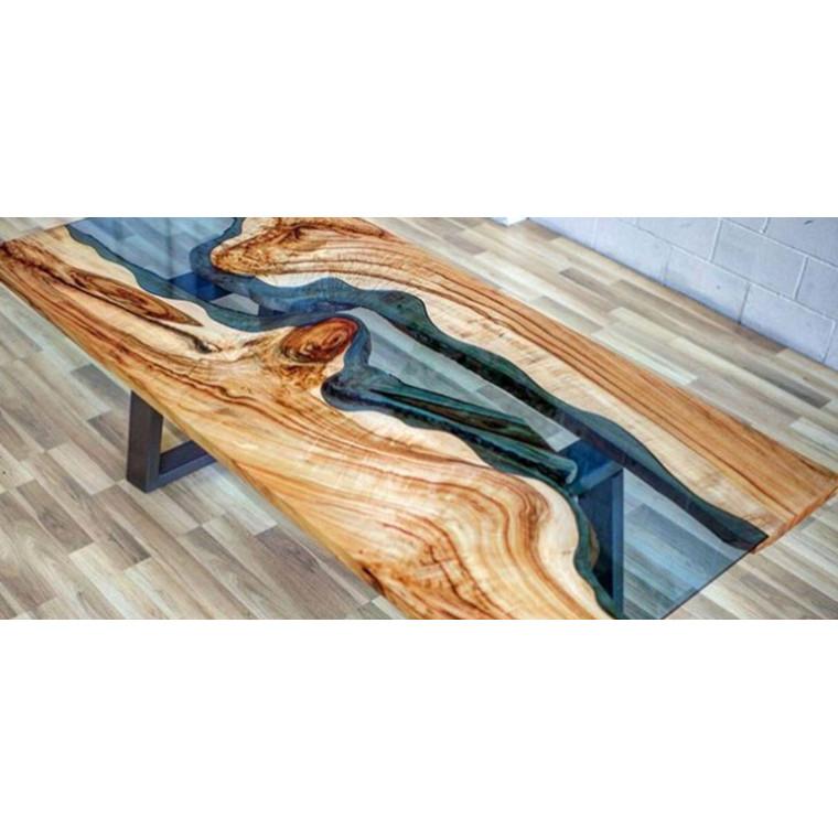 Журнальный стол река из слэбов Alveony