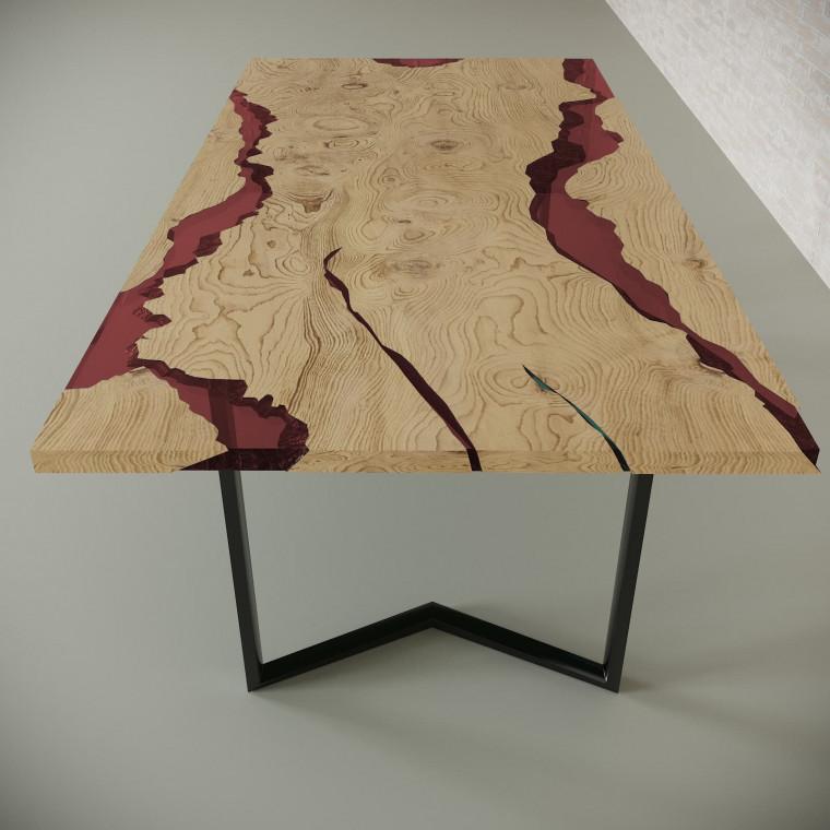 Обеденный стол река из слэбов дуба Callema C11