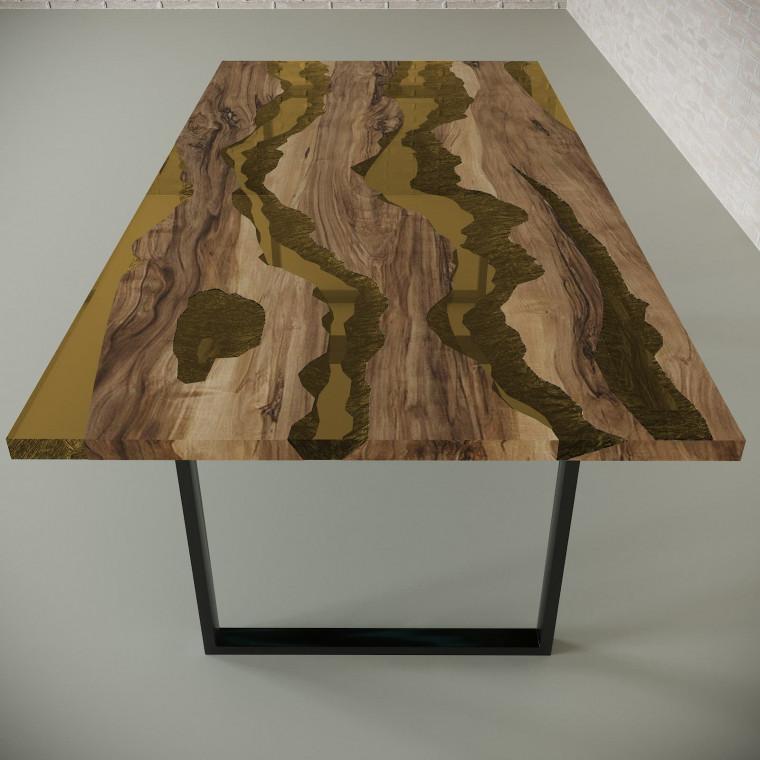 Обеденный стол река из слэбов граба Alliano C09