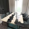 Обеденный стол река из слэбов дуба Argentre C10