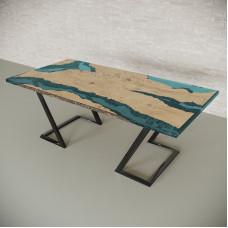 Обеденный стол река из слэбов дуба Neila C05