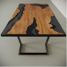 Обеденный стол река из слэбов клена Neila C10