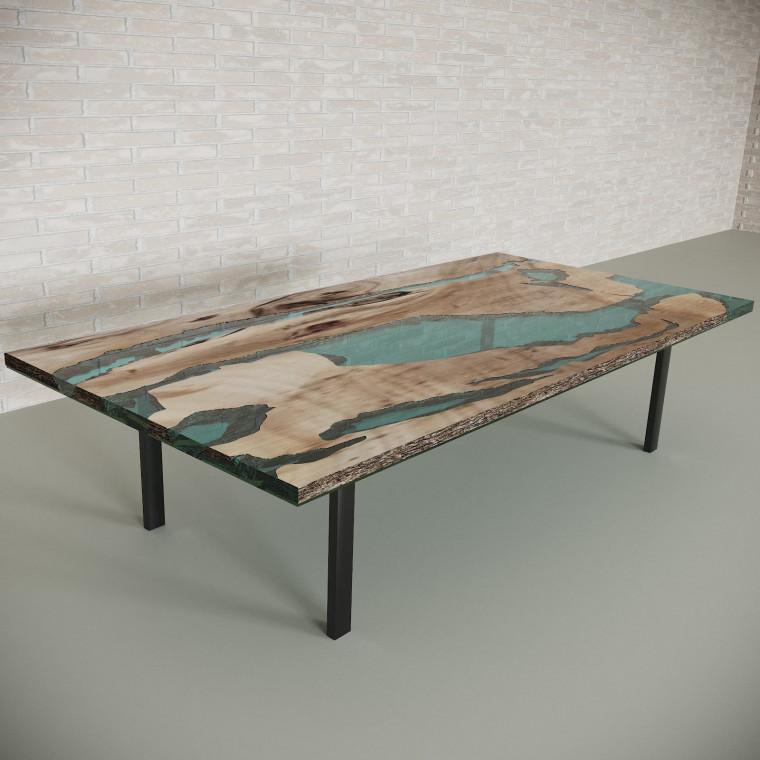 Обеденный стол река из слэбов карагача Lifense C05