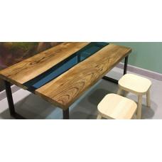 Журнальный стол река из слэбов Sniwey