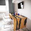 Обеденный стол река из слэбов клена Farsaw C10
