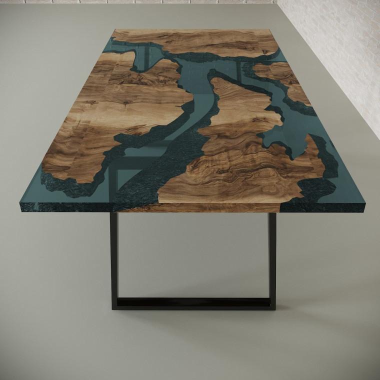 Обеденный стол река из слэбов граба Merchaella C05
