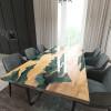 Обеденный стол река из слэбов клена Villors C05