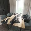 Обеденный стол река из слэбов граба Villors C10