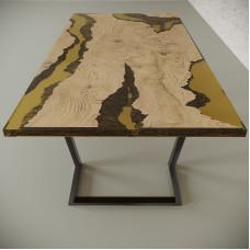 Обеденный стол река из слэбов дуба Neila C09