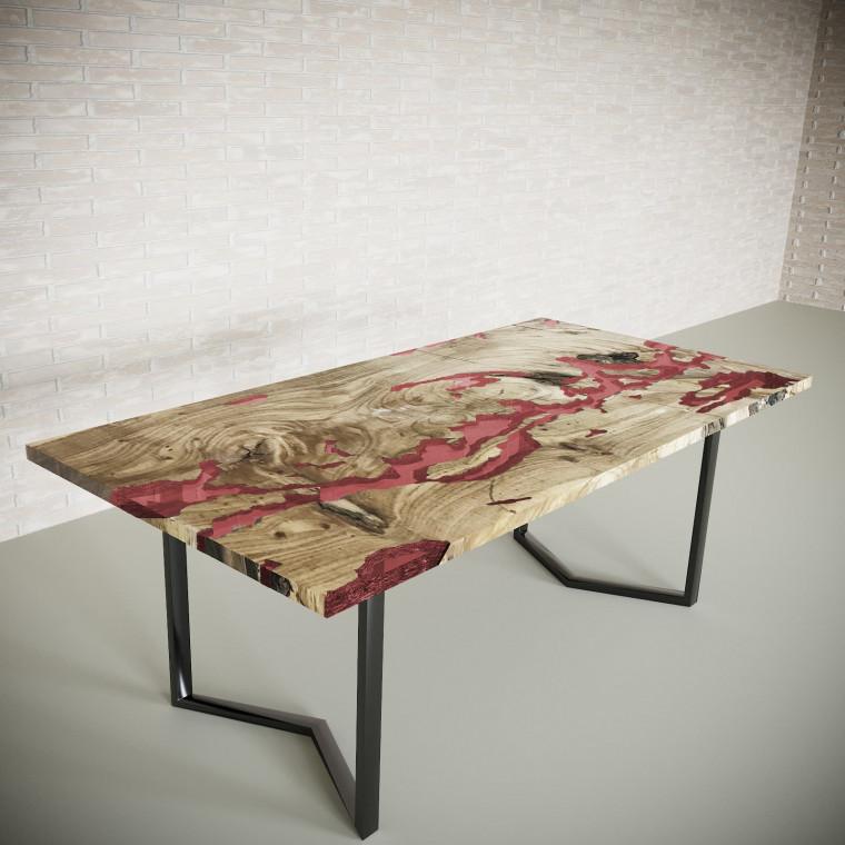 Обеденный стол река из слэбов дуба Omerroon C11