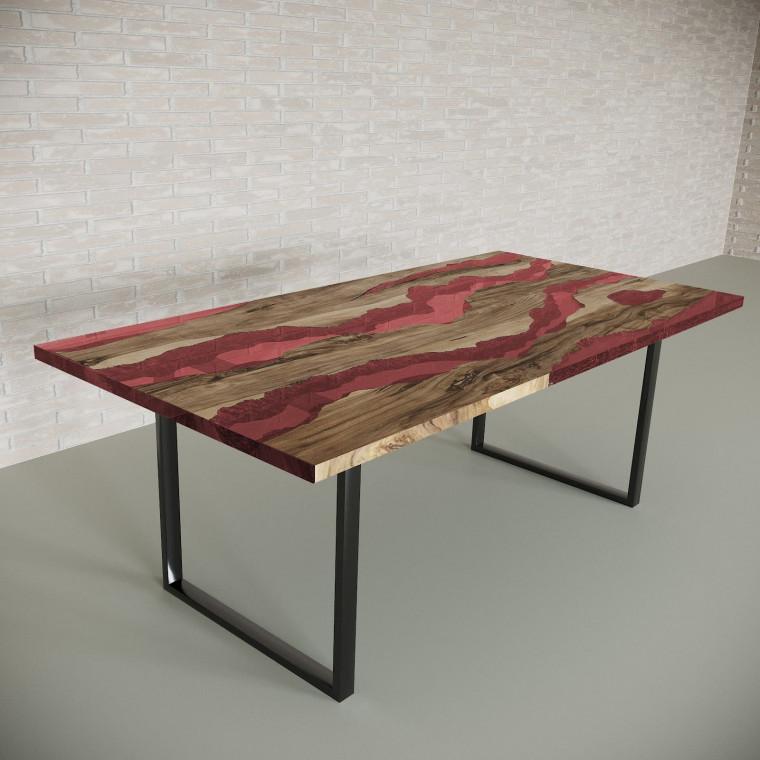 Обеденный стол река из слэбов граба Alliano C11