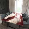 Обеденный стол река из слэбов карагача Merchaella C11