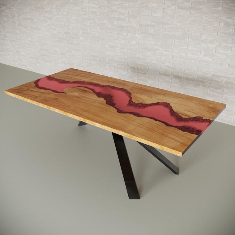 Обеденный стол река из слэбов клена Ivars C11