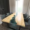 Обеденный стол река из слэбов клена Maessy C05