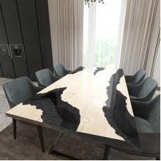 Обеденный стол река из слэбов дуба Neila C10