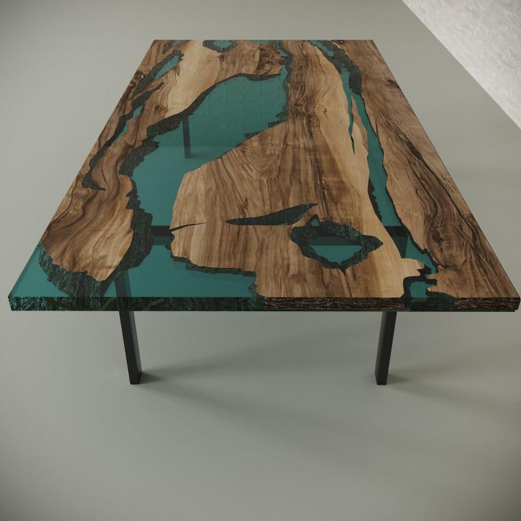Обеденный стол река из слэбов граба Lifense C05