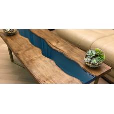 Журнальный стол река из слэбов Wenni