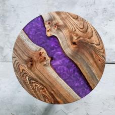 Круглый журнальный стол Violas с фиолетовой заливкой