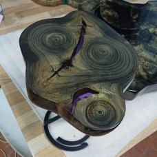 Журнальный стол река Picas 02 из торцевого спила тополя