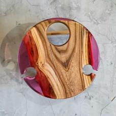 Винный столик Vinvino 01 из массива ясеня со складным механизмом