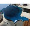 Журнальный столик Cavary с глухой синей заливкой