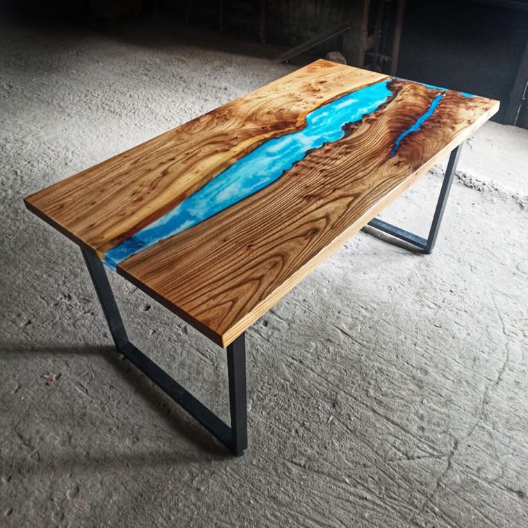 Обеденный стол река Aperlac с перламутровой речкой